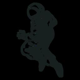 Astronaut stout pose drawn