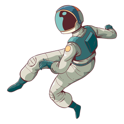 Impresionante astronauta de color