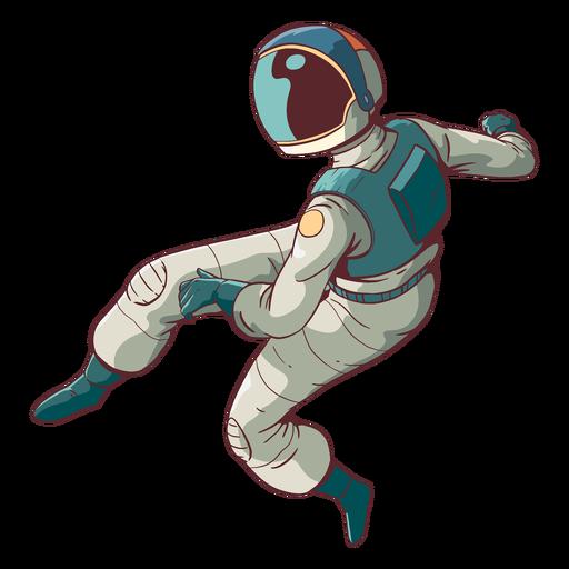 Astronauta incrível colorido