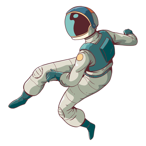 Ehrfürchtiger Astronaut gefärbt
