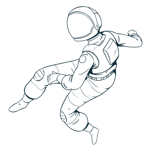 Awesome astronaut drawn