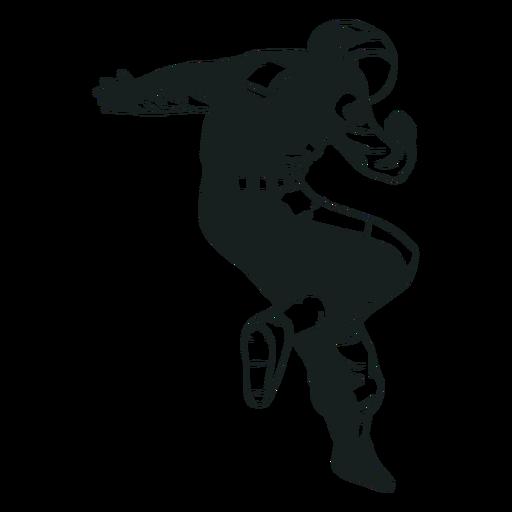 Fantastische gezeichnete Pose des Astronauten