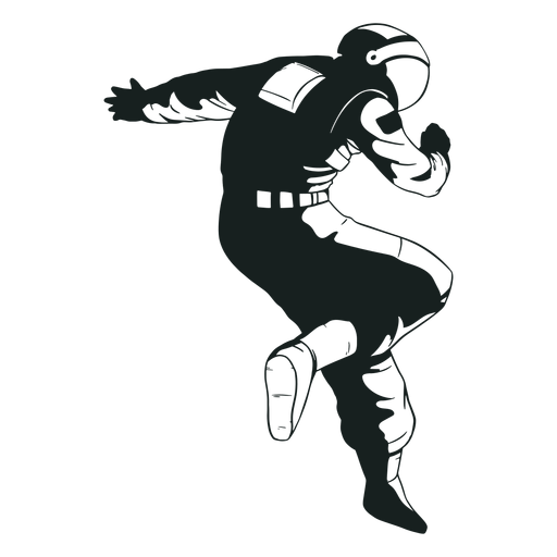 Impresionante pose dibujada de astronauta