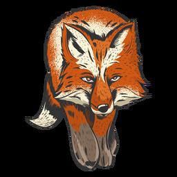 Impresionante ilustración de zorro