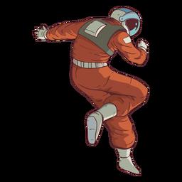 Impresionante pose de color astronauta