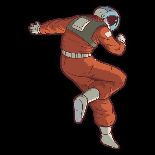Impresionante pose de color astronauta Transparent PNG