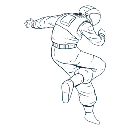 Awesome pose astronaut drawn