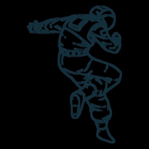 Astronauta de pose impressionante desenhada