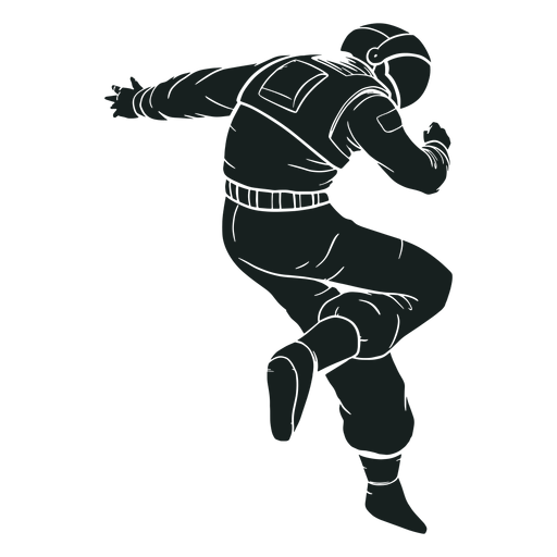 Awesome pose astronaut silhouette