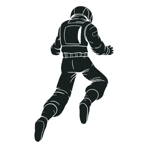 Awesome pose silhouette astronaut
