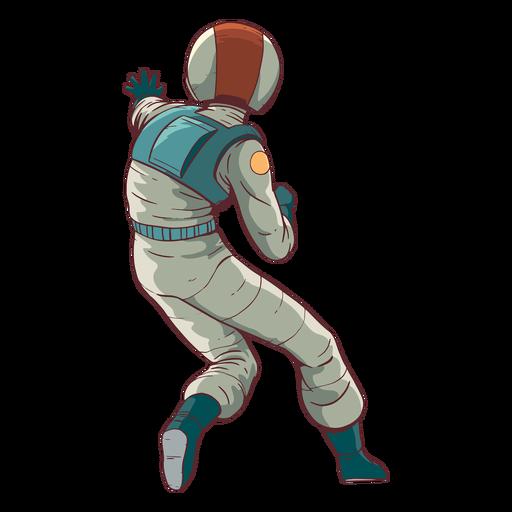 Astronauta de vista posterior de color