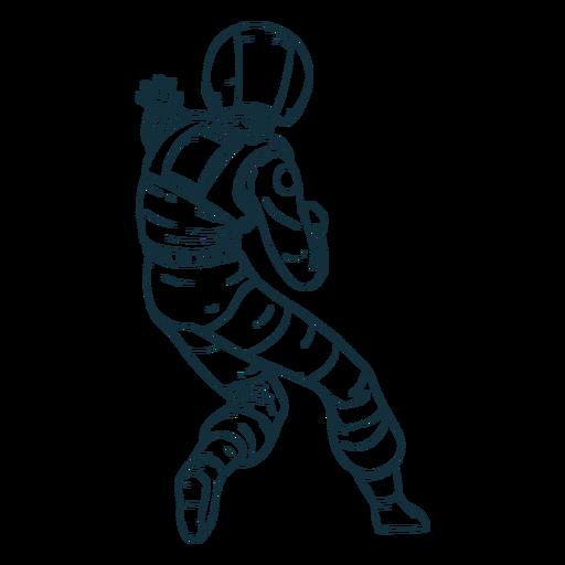 Rückansicht Astronaut gezeichnet