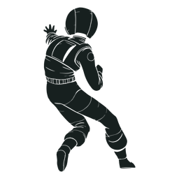 Back view astronaut silhouette