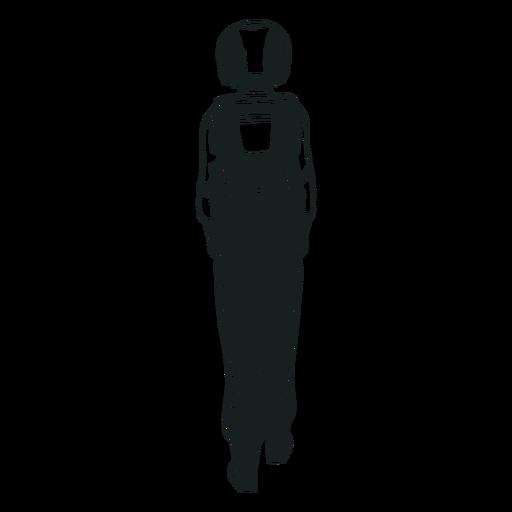 Hinter dem Astronauten gezeichnet