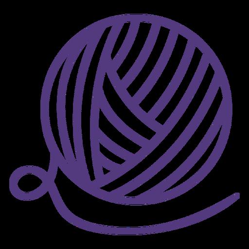 Golpe de bola de lana grande