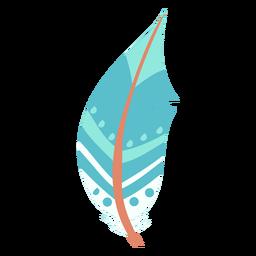 Ilustración circular de plumas azules