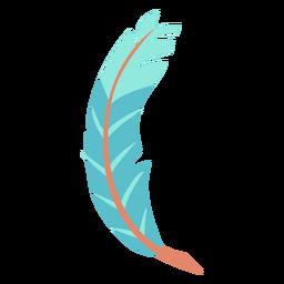 Hoja de plumas azules como