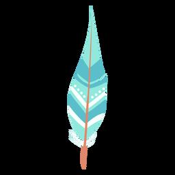 Boho blue feather