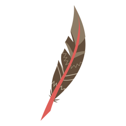 Boho colored feather