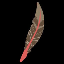 Pluma de color boho