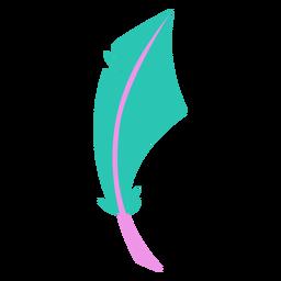 Boho shape green feather