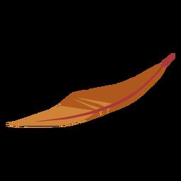 Pluma simple de color marrón