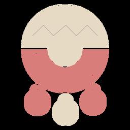 Pendiente circular de piel