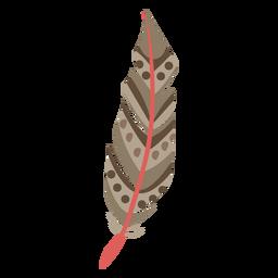 Patrones circulares de plumas marrones