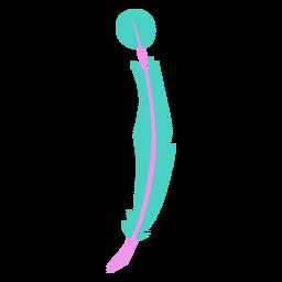 Punta circular pluma verde