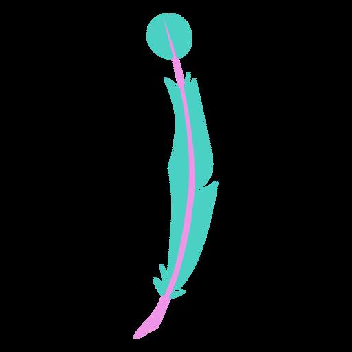 Punta circular pluma verde Transparent PNG