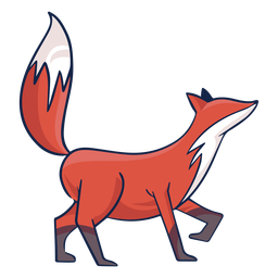 Colored fox side view