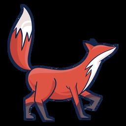 Vista lateral de zorro coloreado