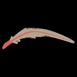 Pluma delgada de color