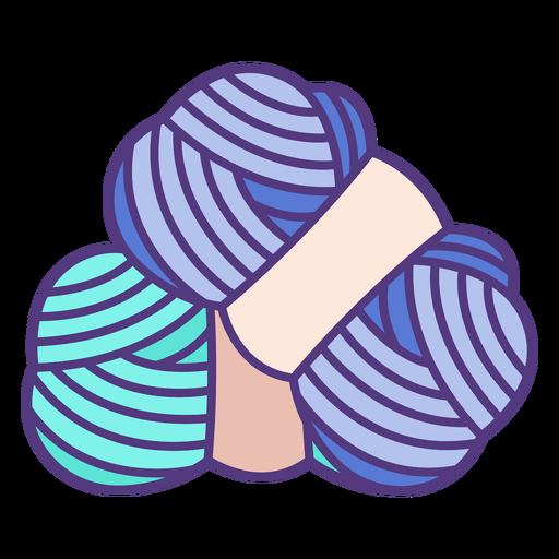 Hilos de lana de colores