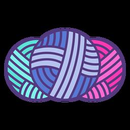 Bolas de hilo de lana de colores