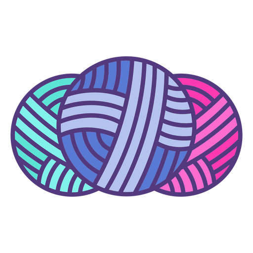 Colored wool yarn balls