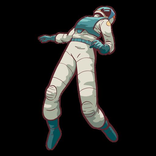 Cool astronauta flotante de color