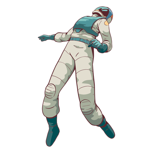 Cool floating astronaut colored
