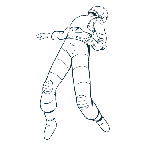 Cool floating astronaut drawn