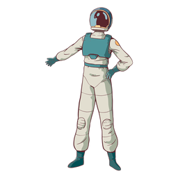 Cool pose astronauta de color
