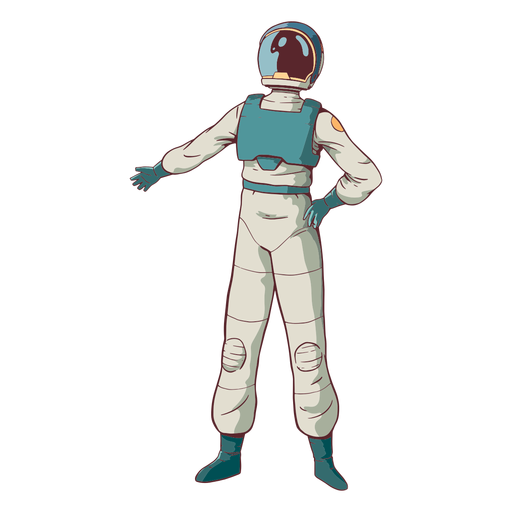 Cool pose astronaut colored