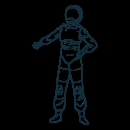 Astronauta legal pose desenhada