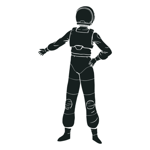 Cool pose astronaut silhouette