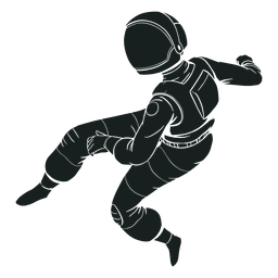 Cool pose silhouette astronaut