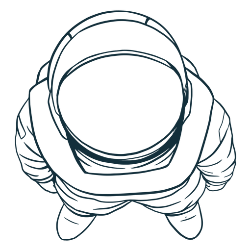 Cool top view astronaut drawn