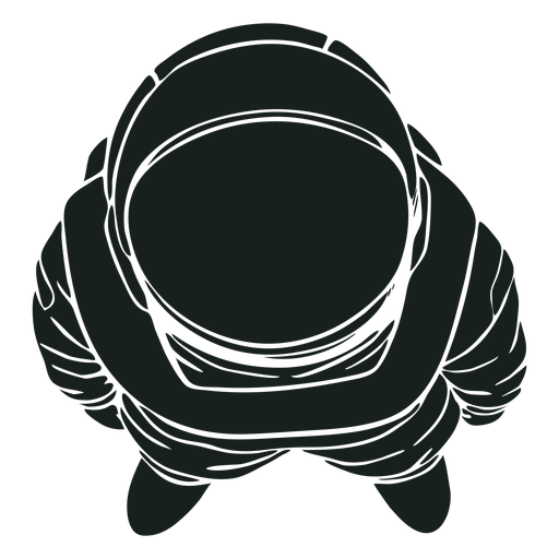 Cool top view astronaut silhouette