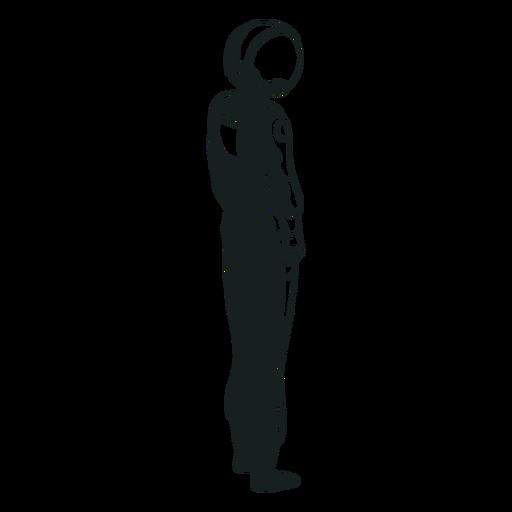 Astronauta dibujado mirando hacia el lado