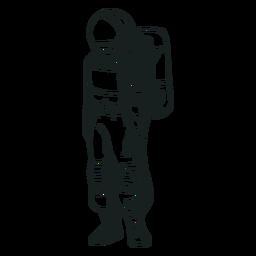 Dibujado stand astronauta