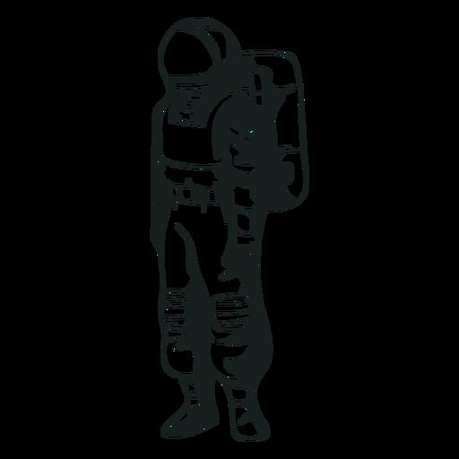 Drawn stand astronaut