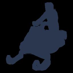Extreme snowmobile silhouette